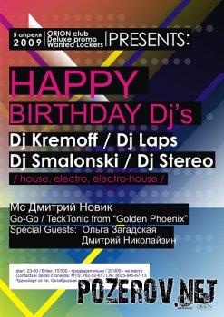 Happy Birthday DJ's