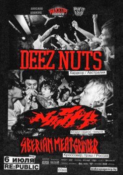 Deez Nuts, Nasty и Siberian Meat Grinder в Минске