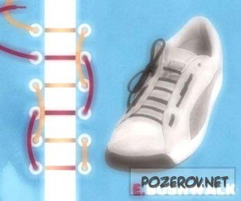 Учимся завязывать шнурки [ Универсальные шнуровки 15 штук ]