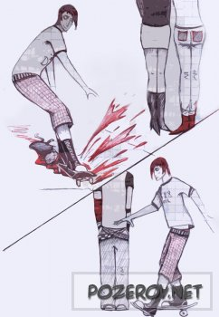 Комикс про злобного эмо-Billy. [ 1-4 ]