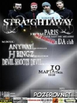 19/03 - Straightaway (fast melodic punk, France) + Anyway!, DSD, J-J Bingz